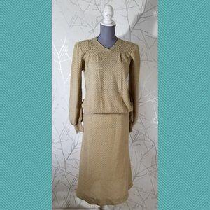 Terratex Vtg Mohair Blend Knit Sweater & Skirt Set